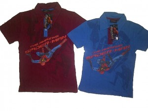 Polo Spiderman AA196 size 4,6,8,10. Seri @35500, lusinan @33500