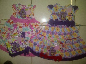 Dress Disney Princess AA299 size 1,2,3 @63000