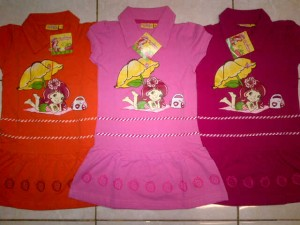 Polo Strawberry Panjang AA343 size 4,6,8,10. Seri @43000, lusinan @41000