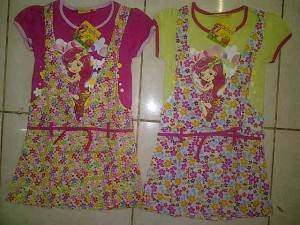Dress Strawberry AA370 size 4,6,8,10. Seri @53000, lusinan @51000